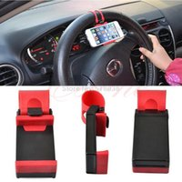 Wholesale C18 Newest Universal Cell Phone Car Steering Wheel GPS Mount Holder For iPhone Samsung HTC