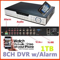 audio hdd recorder - 1TB HDD included New DVR channel CCTV Recorder w HDMI Alarm Audio P2P plug and play mobilephone view IE remote view