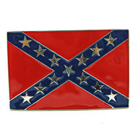 Wholesale Confederate Southern South Rebel Dixie Flag CSA Army Big Belt Buckle Buckles