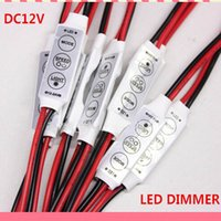 dim - Mini LED Dimmer Switch V Monochrome LED Light Bar Dimmer Controller Mini Key Regulator Dimmers