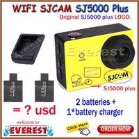 Wholesale Battery Charger New Arrival original SJCAM SJ5000 Plus WiFi Action sports Camera Ambarella A7LS75 Waterproof cam HD DVR A2