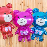 bear birthday decorations - Cartoon Bear Balloon Party Decoration Foil Lovely Color Balloon Baby Children Gift Toys Discount SD464