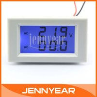amperage meters - AC V A Blue Backlight LCD Voltmeter Amperage Tester Meter in1 Volt Amp Panel Meter Current transformer