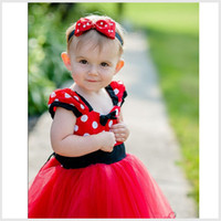 mid dress - Girl Dresses Top red Toddler Christmas Baby Ball Tutus Polka Dot Flora Dress Kids