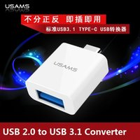 Wholesale USAMS Brand USB USB to USB Type C Adapter Converter Type C GBPS for New quot Macbook Chromebook Pixel