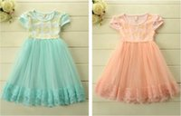 Cheap new summer Children Girl's Clothing Korean Sweety Girls Sleeveless Sequins Sparkling Dresses Princess Veil Tulle Tutu Dress -YX1032