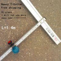 Wholesale 140cm Length heavy T Type Aluminum Alloy Glass Cutter cm Tool FR