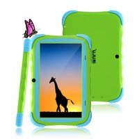 Wholesale New Arrival Inch iRuLu Android RK3026 Kids Tablet PC Dual Core Dual Camera Cortex A9 Drop Resistance Child Tablet PC