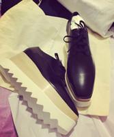 Wholesale Black Stella MC Shoes Woman Platform Elyse Wedge Britt Lace up Shoes