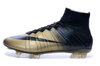 gold spikes - Nike Men s Mercurial Superfly CR7 FG Shoes Soccer Boots Cleats Laser Men shoes Soccer Shoes Football Shoes gold black