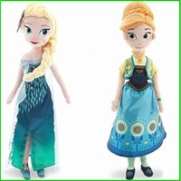 Wholesale 50pcs inch New Frozen fever dolls elsa anna toy doll action figures plush toys children s Gift
