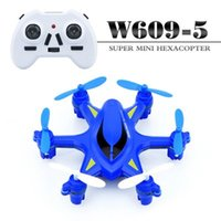 Wholesale New W609 Mini RC Helicopter GHz Wireless Remote Control RC Hexacopter with LED Light D Inverted Flight