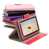 Wholesale 7 Inch Tablet Case PU Leather Folding Folio Wallet Shape Stand Smart Cover Cases for Inch Tablet PC