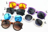 beautiful metal pins - Sunglasses For Womens And Mens Anti UV All Match Repair Face Retro Hollow Metal M Pin Circle Beautiful Reflective Mirror