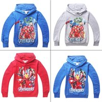 age sweatshirts - 16pcs children Hoodies marvel the Avengers Age of Ultron new cartoon long sleeve Sweater Kids boys Sweatshirts clothes cheap HX