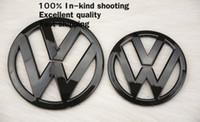 Wholesale 2PC VW mm mm Bonnet Boot Badge for VW Scirocco TDI TSI GT Sport Coupe Hood Trunk Badge High Gloss Black Emblem FR116