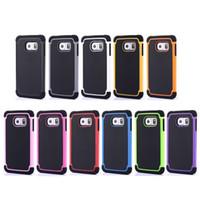achat en gros de mini-hybride de galaxie-Antichoc hybride de Football Hard Cover boîtier en plastique de silicone double Protecteur pour Samsung Galaxy S4 S5 S6 bord S3 Mini Note 5 4 3