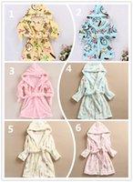 Wholesale Children Bathrobe Flannel Boys Girls Cute Pattern Autumn and Winter Baby Clothing Sweet High Quality Kids Hot Heart Basic Pajamas Homewear