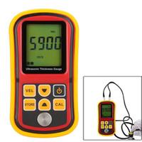 Wholesale GM100 LCD Digital Ultrasonic Thickness Gauge Tester Depth Gauge Sound Velocity Meter Range mm
