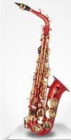 Wholesale 2105 Fashion New Design Professional falling tune E saxophone Red paint spraying brass bluing spring needle Alto Saxophone