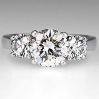 Wholesale GIA Certified Diamond H VS2 Three Stone Engagement Ring Solid Platinum