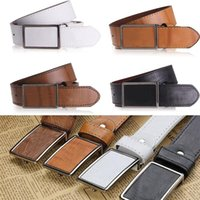 Wholesale New Arrivals Men Belts Waistband Accessories Casual Faux Leather Alloy Fashion Colors EK36