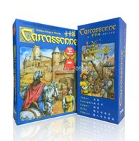 Wholesale English carcassonne basic expansion the river tower catapult count king chaser board game card game english party game