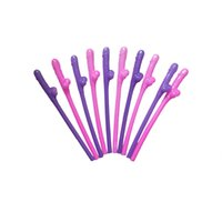 bachelorette party hen party - 10pcs Bag Joke Sex Toys Dicky Sipping Straw Drinking Penis Willy Straws Hen Night Party Supplies