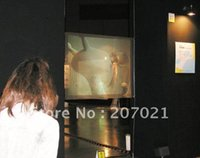 advertising installations - m m G window film installation Holographic screen rear projection for windows shop advertising presentation show
