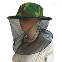 Wholesale 30pcs Mosquito Cap Women Men Midge Fly Insect Bucket Hat Fishing Camping Field Jungle Outdoor Mask Neck Face Protection Mesh Cap