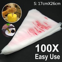 baking tips - 100 Small Size Disposable Piping Bag Icing Fondant Cake Cream Decorating Pastry Tip Tool X CM