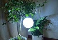 Wholesale 2015 newer Stainless steel solar lamp globe ball Solar spherical light lamp Garden lights freeshipping