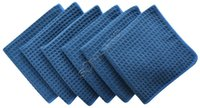 waffle weave kitchen towels - 6 quot x13 quot g Thick Microfiber Waffle Weave Kitchen Towel Dish Drying Towels Washcloths Face Hand Towels Dark Navy Blue