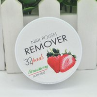 Wholesale Fruity Smell Nail Polish Remover for Women Pads Polish Remover Cotton Beauty Tools Non Toxic PHJ0025