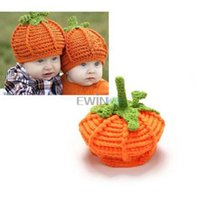 baby pumpkin hat - Hot Selling Pumpkin Hat Baby Halloween Hat Costume Girls Boys Pumkin hat High Quality