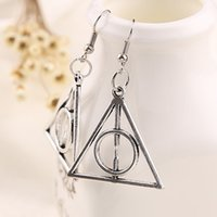 american steam - Hot sale Harry Potter Style The Deathly Hallows Harry Potter Earrings Fans Steam punk Jewelry Earrings For Women y