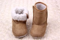 boots baby fur - Baby Children Snow boots Toddler shoes Winter Warm Prewalker Thickening Fur Sport Suede leather Boots cm Drop shipping colors MY