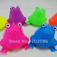 animal puffer ball - Flashing animal puffer ball Frog shape flashing puffer ball mixed colors fast delivery