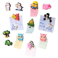Wholesale Cute Cartoon Animal fridge magnets whiteboard sticker Silicon Gel Refrigerator Magnets Kids gift