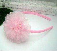 Wholesale Girls flower hair hoop lady plastic hair band hairpin dance princess tiara
