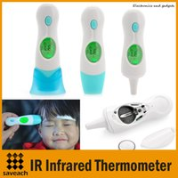 Wholesale 4 In Multi function Digital LCD Adult Baby Forehead Ear Ambient Clock IR Infrared Thermometer Temperature