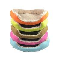 Wholesale 10pcs Cashmere like soft warm Pet Cat Bed Pet Nest luxury Dog nest Luxury warm round