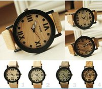 bamboo fabric - 2015 hot Women Wooden Watch wristwatches leather bamboo wood watches for men best quality free ship