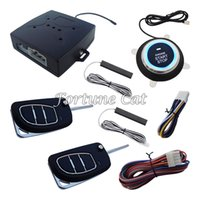 Wholesale New PKE Passive Keyless Entry Car Alarm System Remote Engine Start Push Start Button Auto Lock Unlock