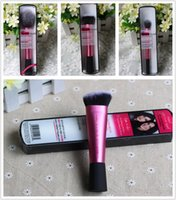 real techniques makeup brush - High Quality Real Techniques Pink Single Piece Blush Sculpting Setting Stippling Brush Perfected Contour Definition makeup brushes DHL Free