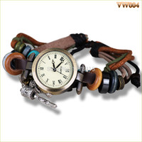 beaded watch straps - Retro Punk Watch High quality ROMA Dial Beaded Leather Strap Vine Antique Lady Bracelet Watch