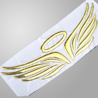 Wholesale Angel Wings Car Stickers D Sticker on Car Logo Sticker Auto Stick Sticker Decal Gold DIY Decoration Accessories X60 QP0057W
