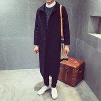 arts windbreaker - Fall original Europe long wool coat loose Japanese art fan windbreaker male
