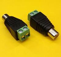 av repair - PLUGZ2GO RCA FEMALE CONNECTOR to AV SCREW TERMINALS for CCTV RCA REPAIRS