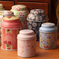 Wholesale Flower tea iron box tin box storage box small portable tea box x14x5 cm TOP16